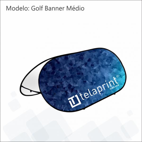 Golf Banner médio azul.