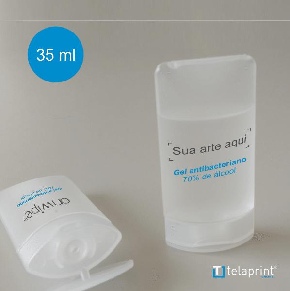 Álcool Gel frasco tampa Flip-Flop - 35 ML