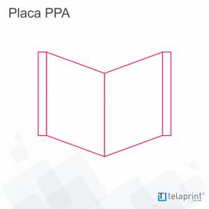 """Placa Imobiliária """"V"""" </br> 1000 x 700 mm"""